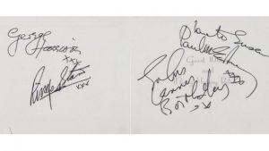 Autographe Beatles