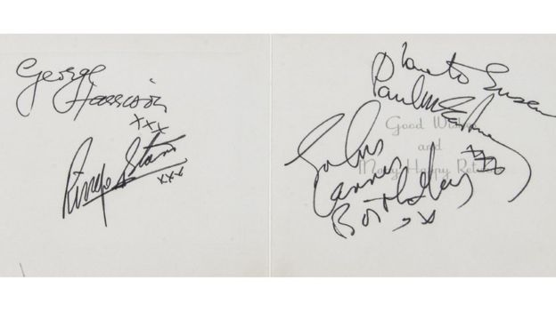 Autographe Beatles