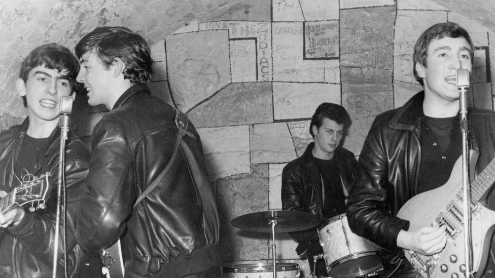 Pete Best with the Beatles
