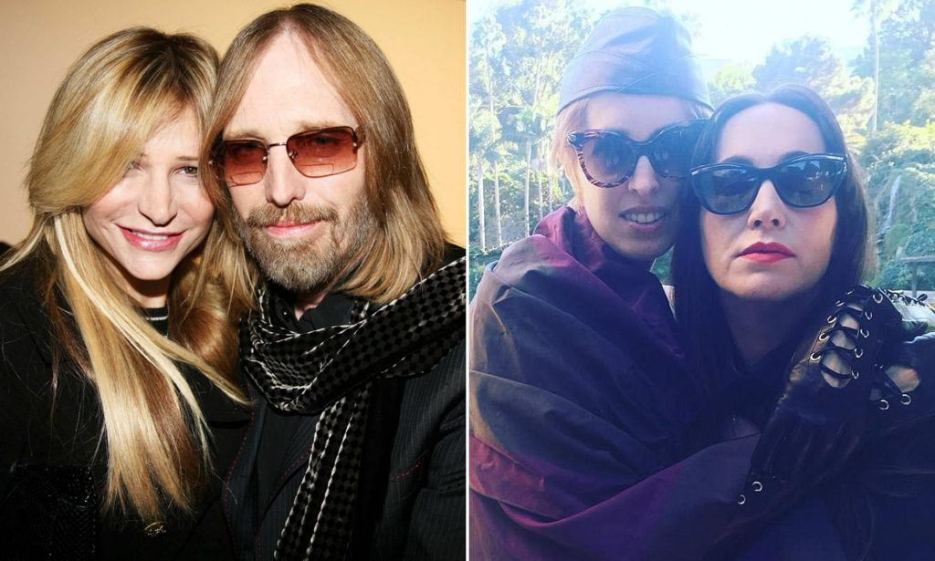 Tom Petty et sa femme & ses filles
