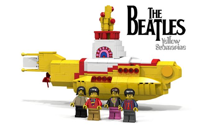 Yellow Lego Submarine