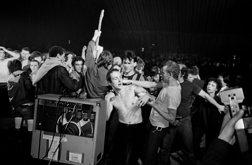 Nice. 1980. The Clash en concert au Theatre de Verdure.