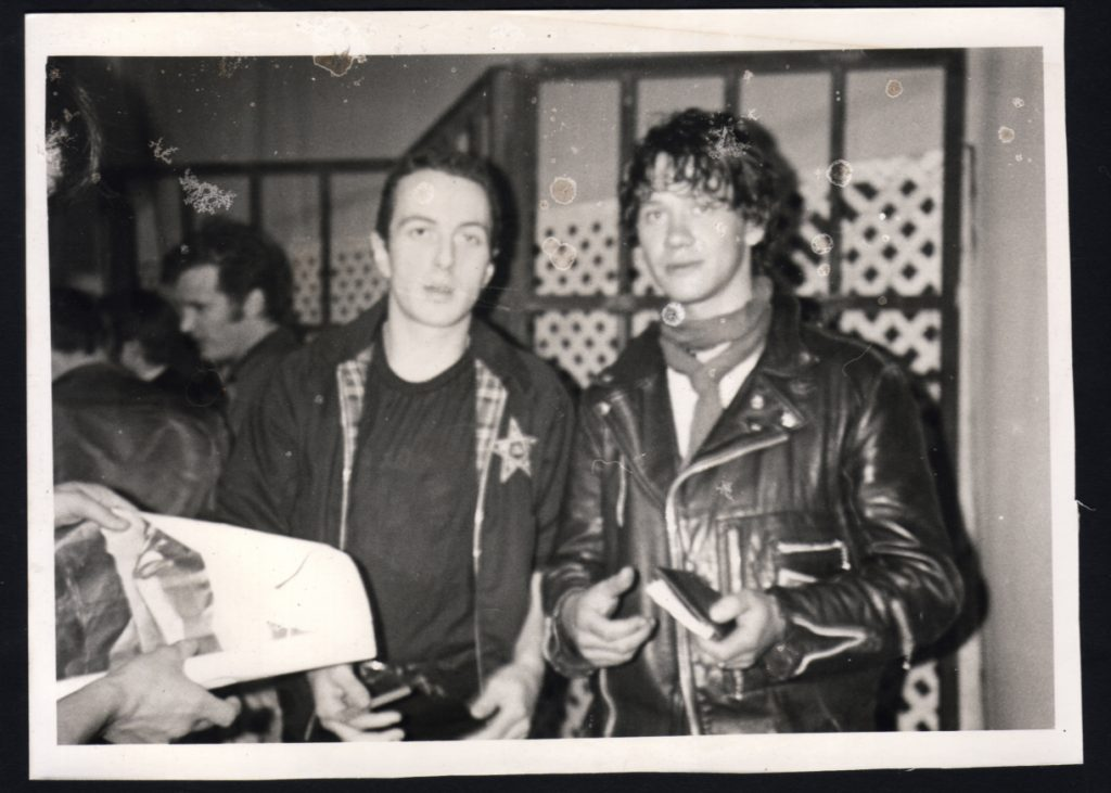 Joe Strummer & Youri Lenquette 1980