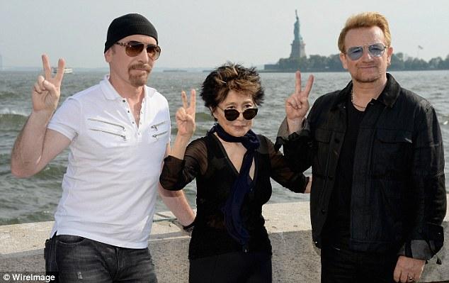 The Edge Yoko Bono