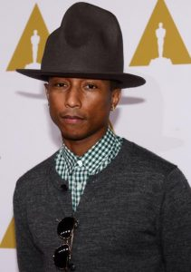 Pharrell unhappy