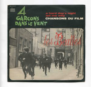 A Hard Day's Night - Tell Me Why recto juke box single SOE 10 121 Odeon France