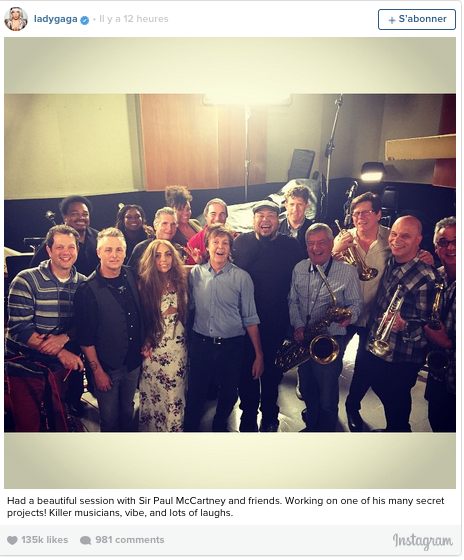 Gaga, Paul McCartney & musicians