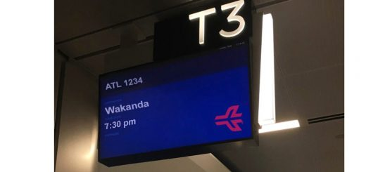 Destination Wakanda direct from Atlanta airport