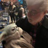 Baby Yoda et George Lucas