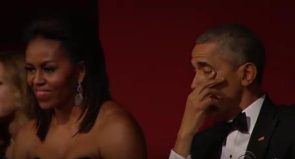 Barack pleure
