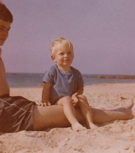 Frank Darcel avec son frère 1962