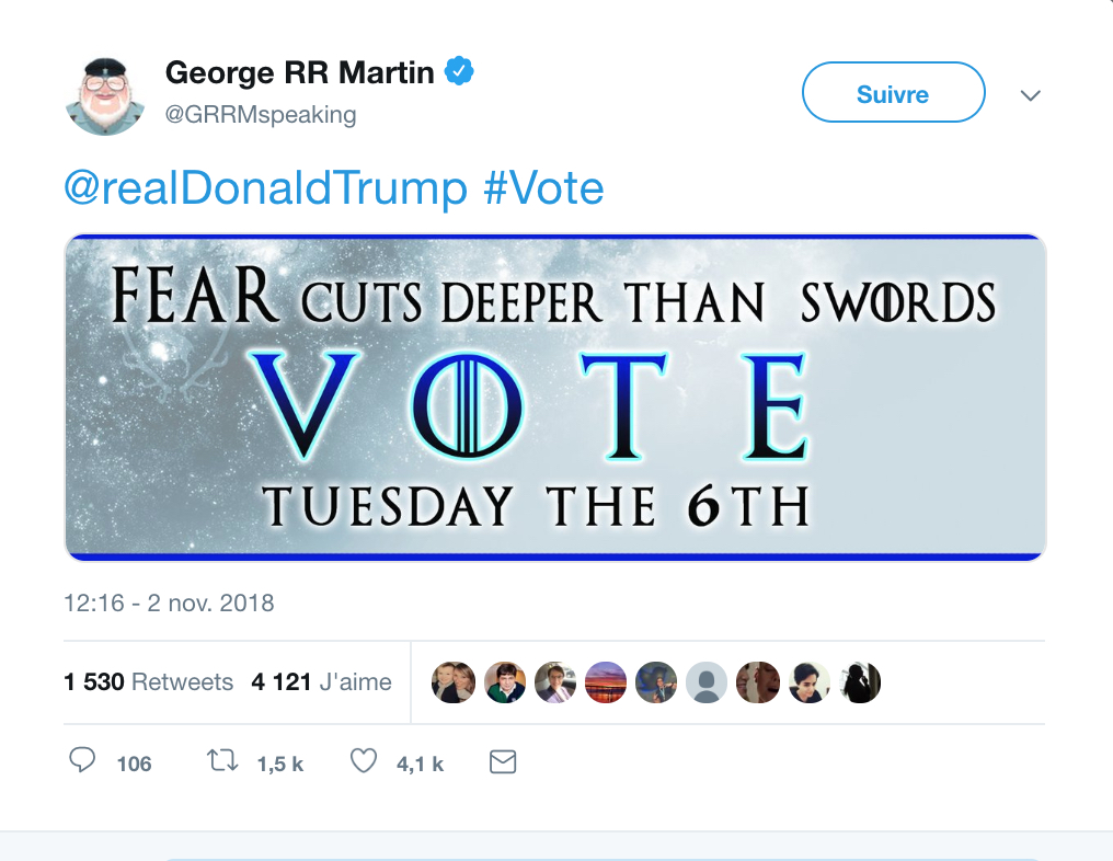 George RR Martin VS Trump