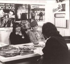 Gilles 1978 dans les bureaux de Feeling avec Brenda Jackson