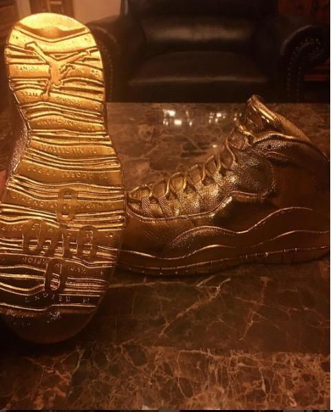 Gold Nike Air Jordan