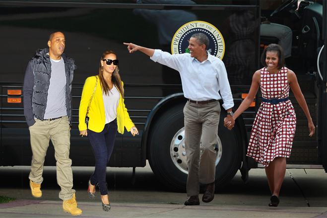 Jay-Z-Beyonce-Obamas