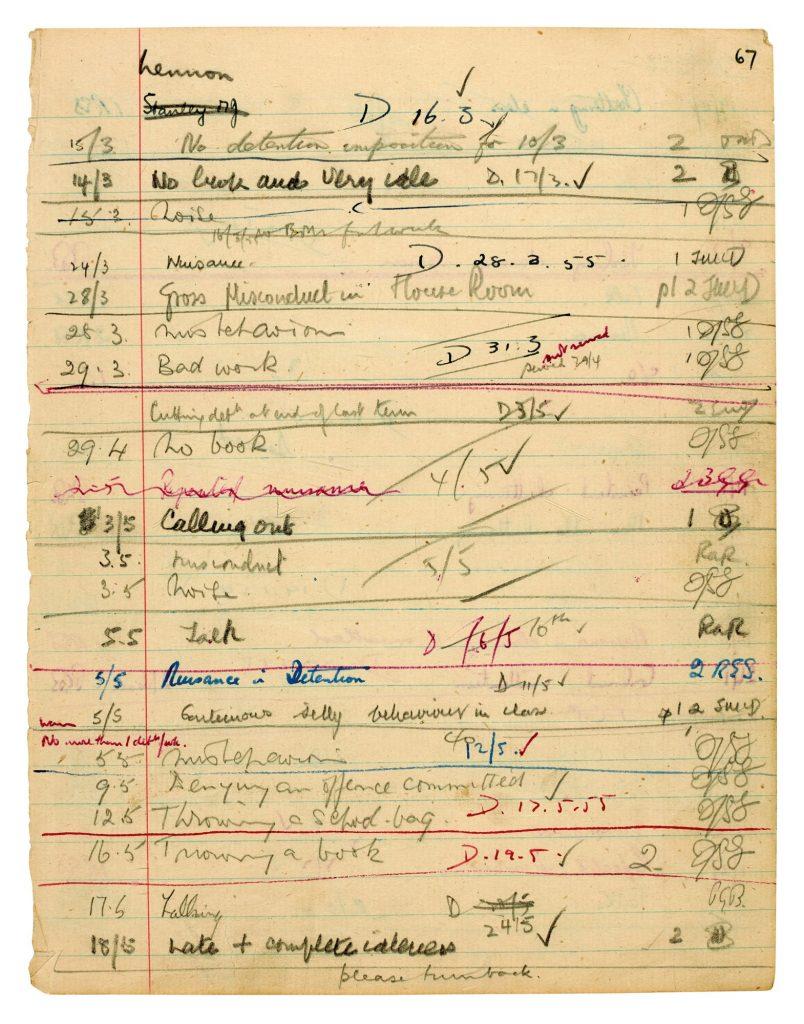 John-Lennon-Detention-Sheet