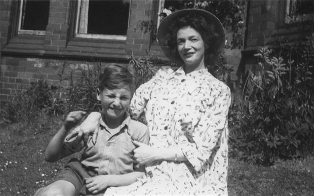 John with his mum