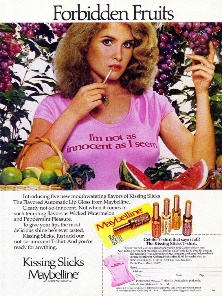 Maybelline-vintage-ad-for-Kissing-Slicks-from-1980