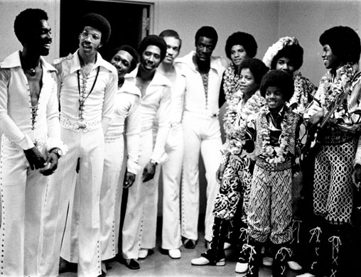 The Commodores meeting the Jackson 5