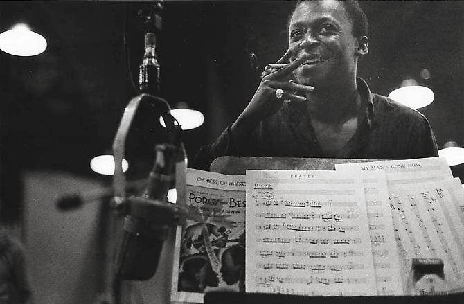 Miles Davis recording Porgy and Bess