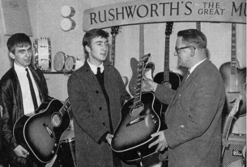 john buying guitar