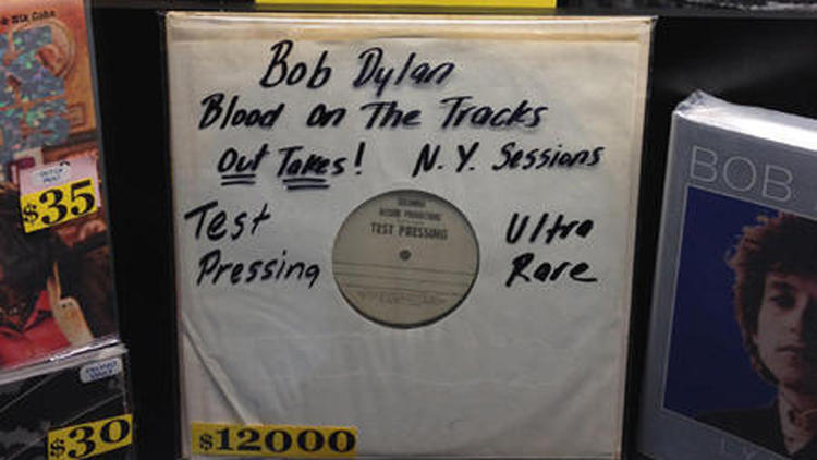 Blood on the Track test-pressing